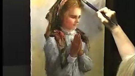 古典油画的临摹!大师的视频!古典女孩!21