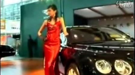 宾利汽车与性感车模