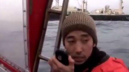 2008年1月18日:绿色和平海上抗议日本捕鲸——伪!