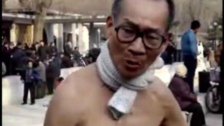 拍客 七十四岁老人赤膊演唱(何志友系列采访二)