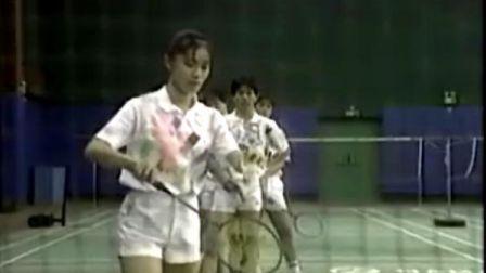 羽毛球教学 发球要领2