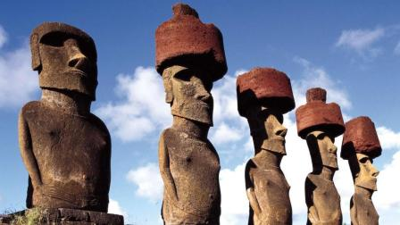 复活节岛上石像的红帽子, 到底怎么戴上去的?