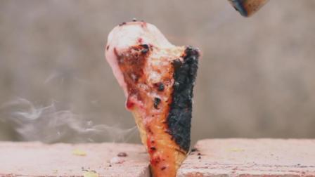 火烧冰淇淋, 过程倒放是啥样?