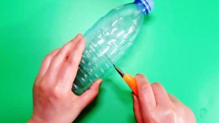 巧用矿泉水瓶做纸抽瓶, 防水防尘又实用, 废物利用的手工视频教程