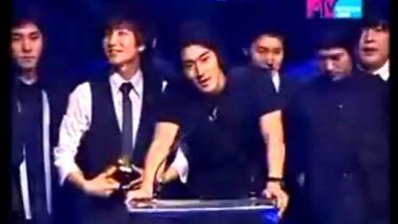 【SJ】08MTV亚洲音乐大奖SJ韩国最受欢迎歌手奖