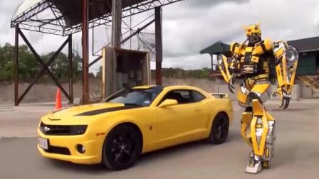 炫酷组合: 当雪佛兰跑车遇到变形金刚大黄蜂