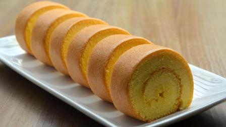 瑞士蛋糕卷做法, 喜欢吃蛋糕的赶紧收藏了, 简单易学, 越吃越上瘾