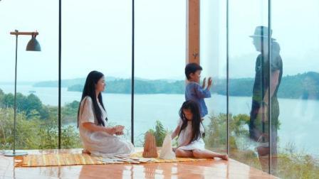 武汉帅爸在300亩荒岛, 给全家人造房子, 真正的世外桃源!
