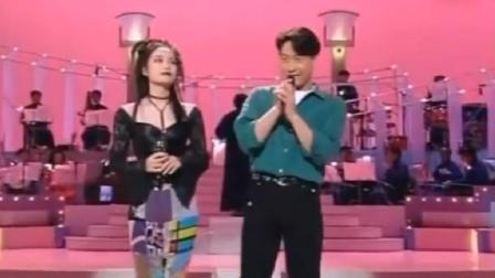 九三年, 王菲与黎明同台合唱, 先唱儿歌, 后唱情歌, 切换自如