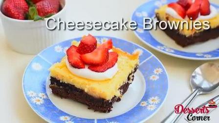 芝士蛋糕好吃层乳脂软糖布朗尼和奶油乳酪蛋糕