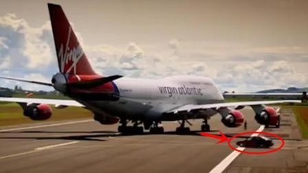 美国波音747飞机的发动机有多可怕? 看这辆汽车的下场就知道了!