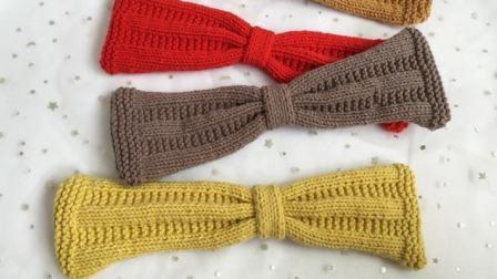 糖糖手作(第95集)棒针编织条纹发带