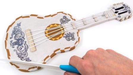 太空沙 皮克斯可可吉他蛋糕做法 手工DIY 动力沙 天使沙 【 俊和他的玩具们 】