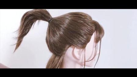 2018最新小巧丸子头, 再用发夹修饰一下会更完美