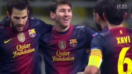 梅西2球平世界纪录 巴萨客场3-0莫斯科斯巴达