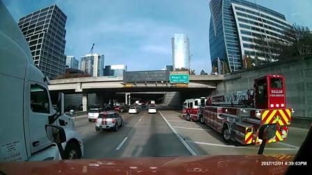 看看这消防车驾驶员的驾驶技术怎么样? 反正我是服了!