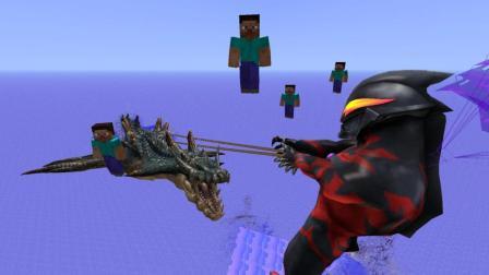 GMOD游戏贝利亚奥特曼居然用绳子绑着怪兽冲浪