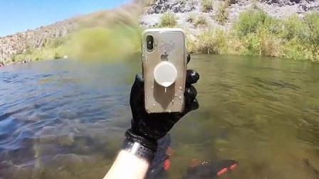 iPhone X掉河里两周 捞起烘干还能用