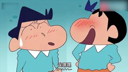 蜡笔小新: 小新和风间扮成双胞胎试吃香肠, 吸引了一大批人买香肠