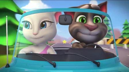汤姆猫: 坐车在路上化妆, 也是高难度的技术活