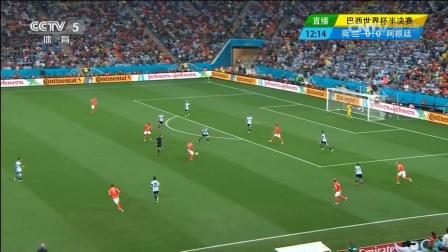 2014巴西世界杯半决赛阿根廷vs荷兰射门集锦
