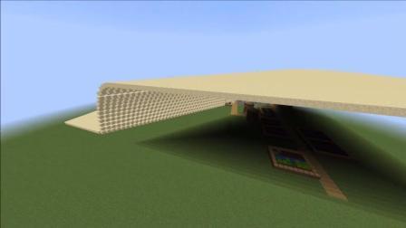 《我的世界》强大的MC, 用沙子把村庄掩埋, 好壮观!