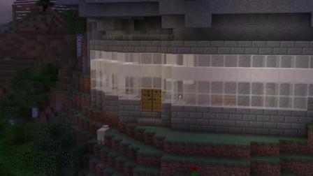 《我的世界》MC想怎么玩就怎么玩, 教你在山洞建造堡垒建筑!