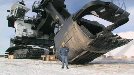 世界最大绳铲挖掘机, 重1265吨84块履带板, 1.5亿贵吗?