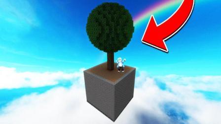 我的世界 超难生存地图 在只有一颗树的地方你可以生存吗?搞笑MC游戏解说视频