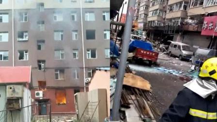 长春一小区发生爆炸, 6层楼玻璃全部碎裂, 现场一片狼藉