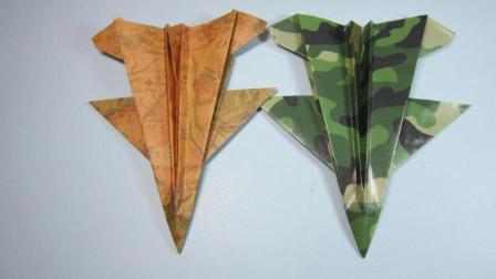 简单的手工折纸飞机, 4分钟就能学会F16战斗机的折法