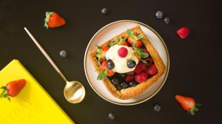 高颜值的冰淇淋莓果厚多士, 冲击你的味蕾!