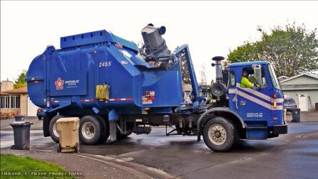 沃尔沃也造垃圾车? 新能源电动, 干净静音再不扰民!