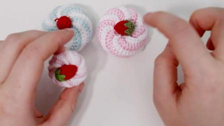 """创意针织DIY, 教你钩织""""奶油糕点""""的方法, 看起来就流口水"""