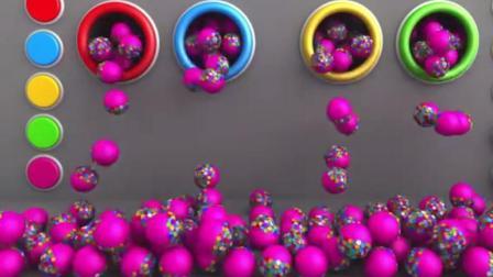 玩具总动员: 在糖果机里寻找彩蛋, 彩蛋变出各种彩色圆球和积木玩具