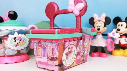 米奇妙妙屋米妮的超大豪华野餐篮玩具开箱