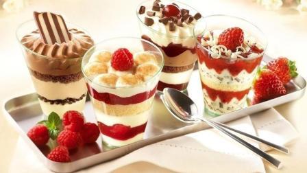 3分钟教你在家, 自制酸奶冰淇淋, 超级简单易做, 看着都想吃