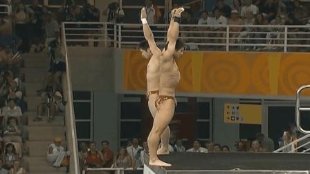 双人10米跳台田亮爆发夺金牌, 这一跳让日本裁判都服了打满分10分