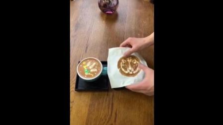 怎么快速做咖啡拉花