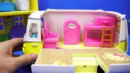 凯蒂猫Hello Kitty的郊游野餐车过家家玩具