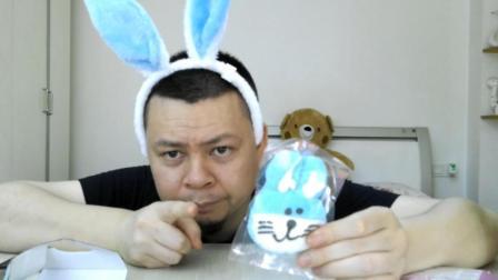 """试吃""""兔子棉花糖"""", 这么可爱的小兔子, 还好宝贝不在家"""