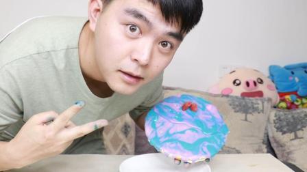 直男教你自制星空蛋糕, 颜值非常高的蛋糕原来是这样制作出来的