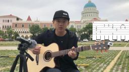 【潇潇指弹教学】火影插曲《rainy day》吉他教学