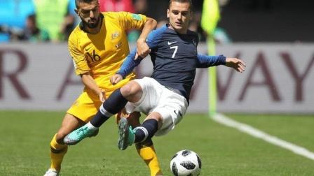 【全场集锦】博格巴挑射攻门 法国2-1澳大利亚
