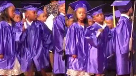 嘚瑟!5岁女孩庆祝幼儿园毕业 尬舞摇摆