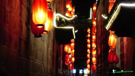 成都锦里夜景-灯火阑珊