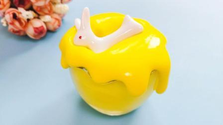 不要胶水硼砂! 教你用最简单方法自制香蕉布丁史莱姆, 还能自制胶水和纸粘土!