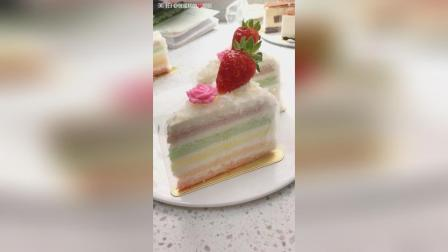 颜值高的彩虹慕斯蛋糕, 做法还这么简单