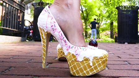 用蛋糕甜点做的鞋子, 上街绝对吸睛, 小仙女们心动吗?