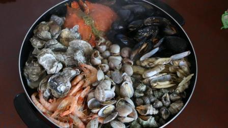 【海鲜大杂烩】最原汁原味的海鲜大餐, 做法非常简单